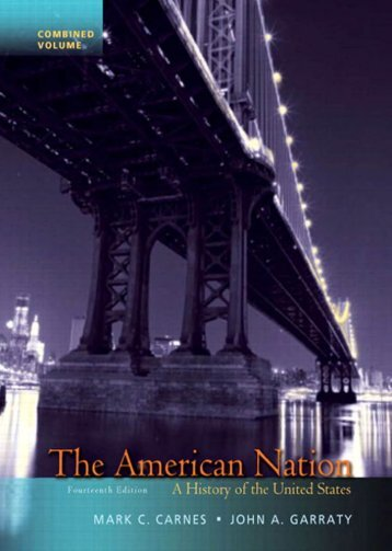 The American Nation A History of the United States