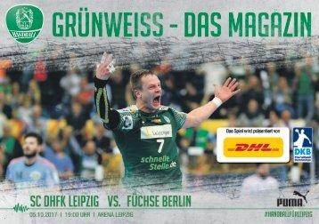 Grünweiss - das Spieltagsmagazin des SC DHfK Leipzig - Doppelheft 5. und 8. Oktober