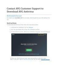 Contact AVG Customer Support to Download AVG Antivirus