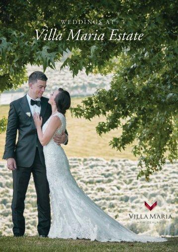 Villa Maria Weddings Brochure 2017