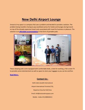 New Delhi Airport Lounge