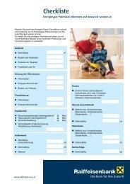 Checkliste Checkliste - Raiffeisen
