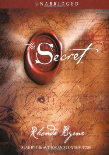 Read [PDF] The Secret (Unabridged, 4-CD Set) Full Books online