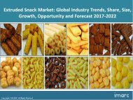 Global Extruded Snack Foods Market Trends, Share, Size and Forecast 2017-2022