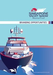 SINGAPORE YACHT SHOW 2018 BRANDING OPPORTUNITIES