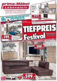 Tiefpreis-Festival: unglaublich sparen bei Prima Möbel in 07356 Bad Lobenstein