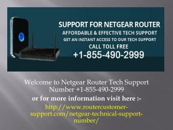 Netgear router technical support +1-855-490-2999