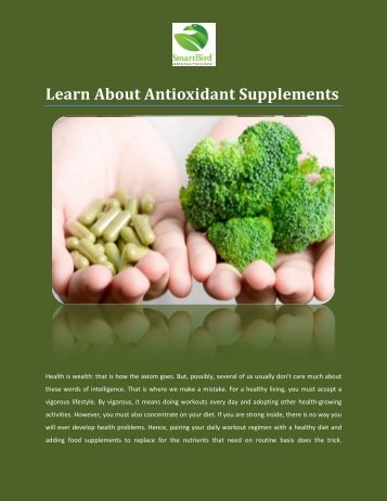 Learn About Antioxidant Supplements