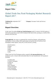 Fresh Sea Food Packaging Market Research Report 2017