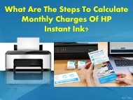 What Are The Steps To Calculate Monthly Charges Of HP Instant Ink?