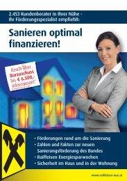 Sanieren optimal finanzieren! - Oberösterreich