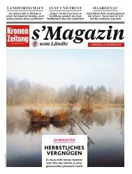 s'Magazin usm Ländle, 8. Oktober 2017