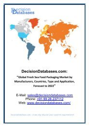 Access Fresh Sea Food Packaging Market Research Report: Global Analysis 2017-2022
