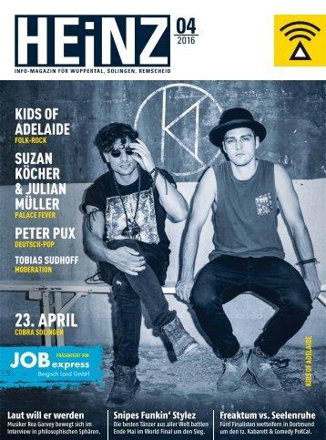 HEINZ Magazin Wuppertal 04-2016