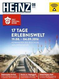 HEINZ Magazin Wuppertal 08-2016