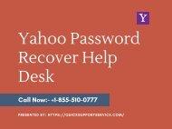 Yahoo Password Recover Help Desk