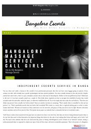 Bangalore Escort Call Girl Service 24/7*