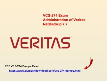 Latest & Updated Veritas VCS-274 Dumps | Dumps4download.com