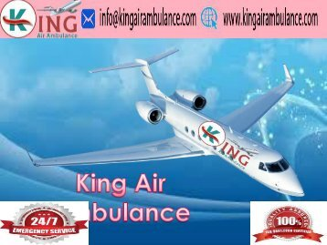 King Air Ambulance Service in Ranchi with Emergency Facility