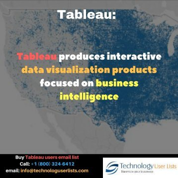 Tableau users email list