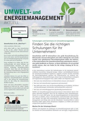 Umwelt- und Energiemangement Aktuell_21/17