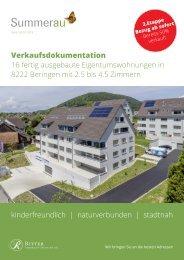 Verkaufsdokumentation  Summerau Haus C, 8222 Beringen (SH)