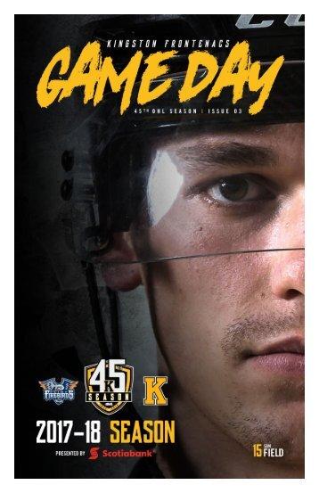 Kingston Frontenacs GameDay October 6, 2017