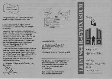 Programmflyer herunterladen! - Leininger Gymnasium