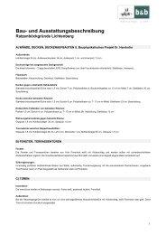 Bau- und Ausstattungsbeschreibung - Raiffeisen