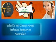 Why Do We Choose Avast Technical Support in Australia?