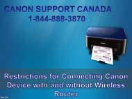 Restrictions for Connecting Canon Device with and without Wireless Router