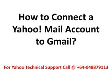 How to Connect a Yahoo Mail Account to Gmail?