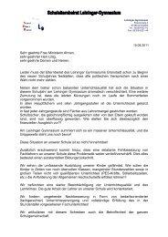 Sehr geehrte Frau Ministerin Ahnen, sehr geehrter Herr Lillig, sehr ...