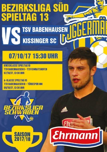 20171007 Fuggermärktler TSV 1862 Babenhausen - Kissinger SC
