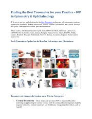 Finding the Best Tonometer for your Practice – IOP in Optometry & Ophthalmology