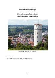 Warum nach Ravensburg - Finanzgericht Baden-Württemberg