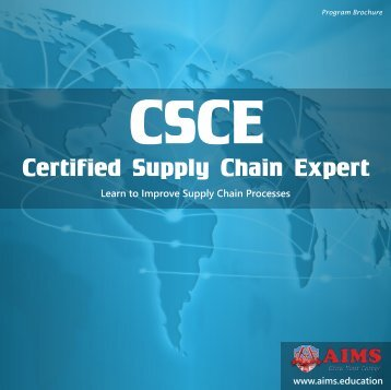 CSCE - Certified Supply Chain Expert