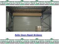 Roller Door Repairs Brisbane