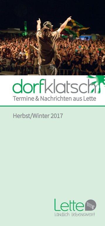 dorfklatsch - Herbst/Winter 2017
