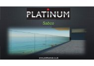 Platinum sabco balustrade