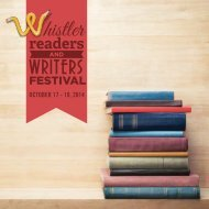 Whistler Writers Festival Program 2014