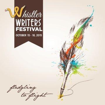 Whistler Writers Festival Program Guide 2015