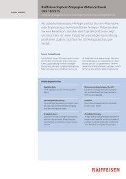 Raiffeisen Express Zinspapier Aktien Schweiz CHF 10/2015