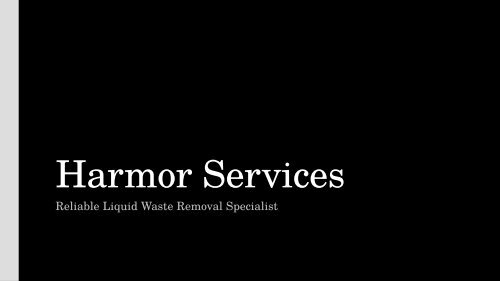 Grease Trap Melbourne - Harmor Services