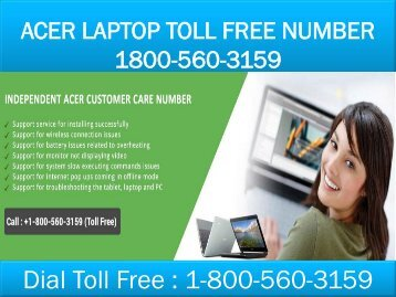 18005603159 Acer Laptop Toll Free Number