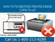 How to Fix Brother Printer Error Code TS-02