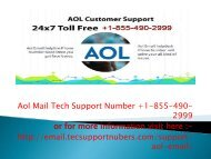 Problems in configuring AOL email? Dial our AOL mail support help number +1-855-490-2999