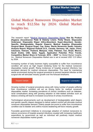 Medical Nonwoven Disposables Market 7