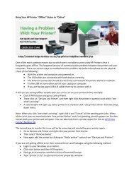 "Bring Your HP Printer ""Offline"" Status to ""Online"""