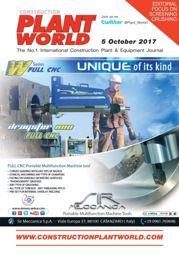 Construction Plant World 5th October 2017
